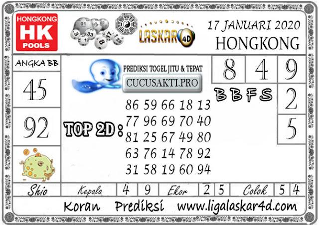 Prediksi Togel HONGKONG LASKAR4d 17 JANUARI 2020
