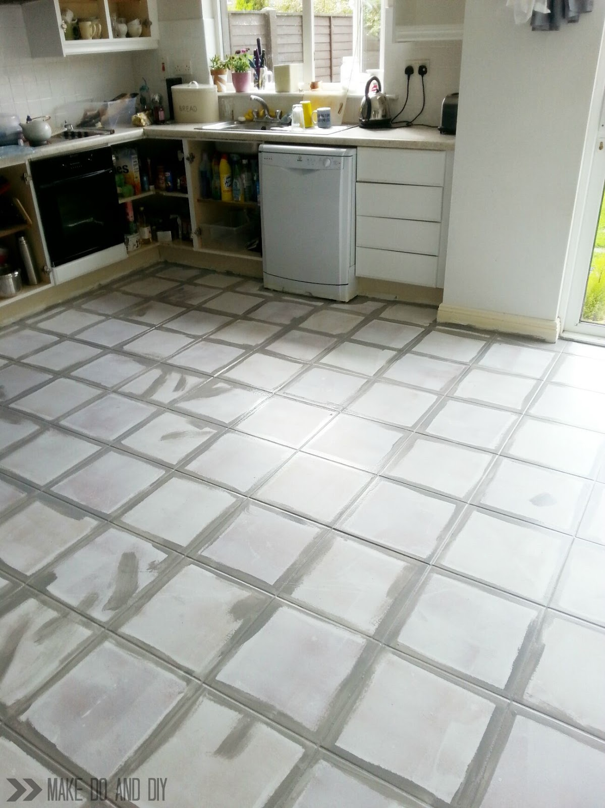 can you paint over ceramic tile in bathroom painted tile floor no really make do and diy 26330