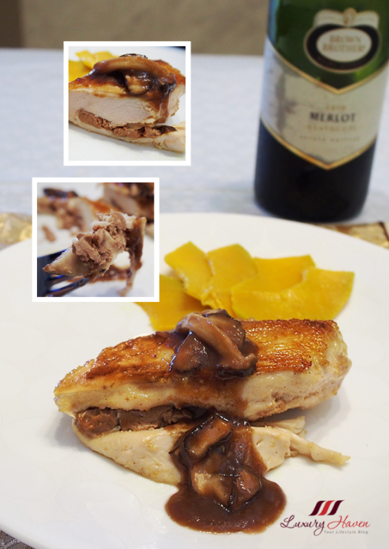 foie gras stuffed chicken merlot red wine recipe