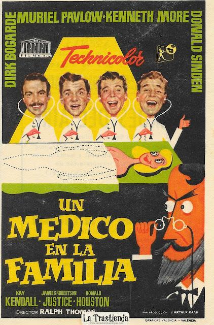 Un Médico en la Familia - Programa de Cine - Dirk Bogarde - Muriel Pavlow