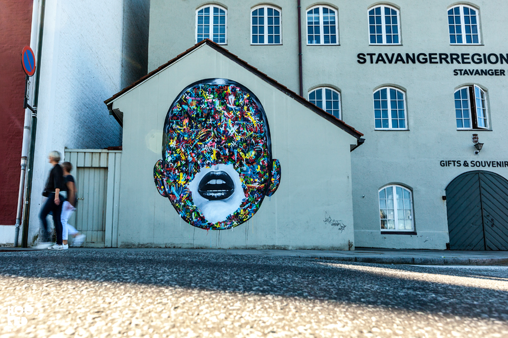 Martin Whatson and Sandra Chevalier collab mural in Stavanger, Norway