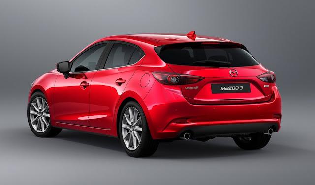 2017 Mazda 3 Sport red