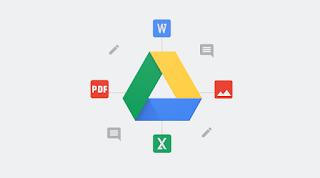 menampilkan file di google drive