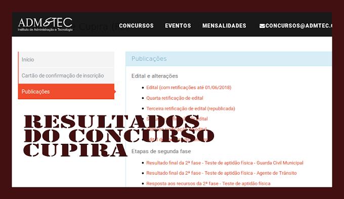 CUPIRA JÁ PUBLICOU RESULTADO DO CONCURSO PÚBLICO, ENQUANTO A PREFEITURA DE PANELAS CONTINUA ATRASANDO O SEU