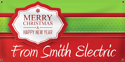 Merry Christmas and Happy New Year Business Banner | Banners.com