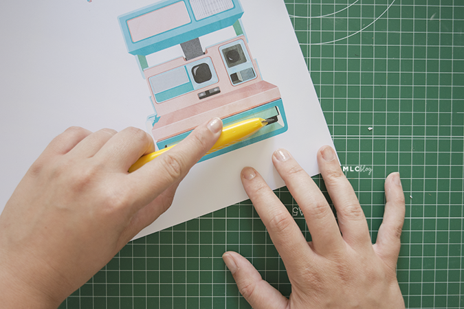 tarjeta polaroid imprimible