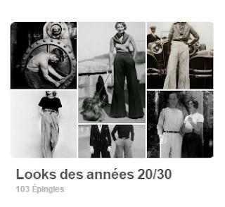 tableau pinterest look vintage années 20-30