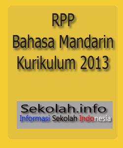 Contoh RPP Bahasa Mandarin, Kurikulum 2013