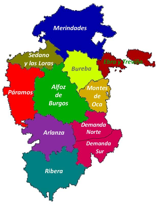 Mapa De España Burgos.Sendas De Burgos Mapas De La Provincia De Burgos