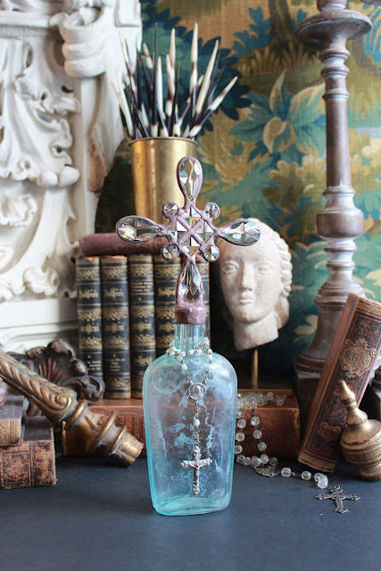 cross bottle, cross bottle guy, Cross Bottle Guy, vintage cross bottles, antique cross bottles, crosses, interior design accessories, must have accessories, luxury home decor, rosary, christian decor, rosary decor, catholic decor, Jesus, Mary, Joseph, Saints, bottles, antique bottles, vintage bottles, hand dug bottles, bottle art, altered bottles, crystals, chandelier crystals, crystal art, solder, solder art, stained glass, teardrop crystals, square crystals, octagonal crystals, crystal cross bottles, crosses on bottles, bottles with crosses on top, crosses on top of bottles, cross stoppers, crystal cross bottle stoppers, aqua bottles, blue bottles, amber bottles, clear bottles, hazy bottles, white bottles, medicine bottles, pharmacy bottles, antique glass bottles, antique glass flask, decor, decorations, designer accessories for the home, interior design accessories, cross bottles, crossbottles, crossbottleguy, vintage cross bottle art, cross bottle art, bottle art, handmade art, unique art, one of a kind art, handmade, unique, art, one of a kind, authentic art, vignette styling