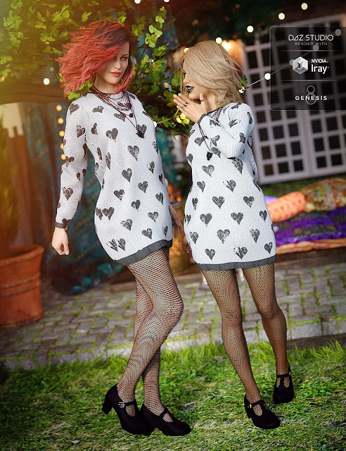 Slouchy Sweater Outfit for Genesis 8 Female