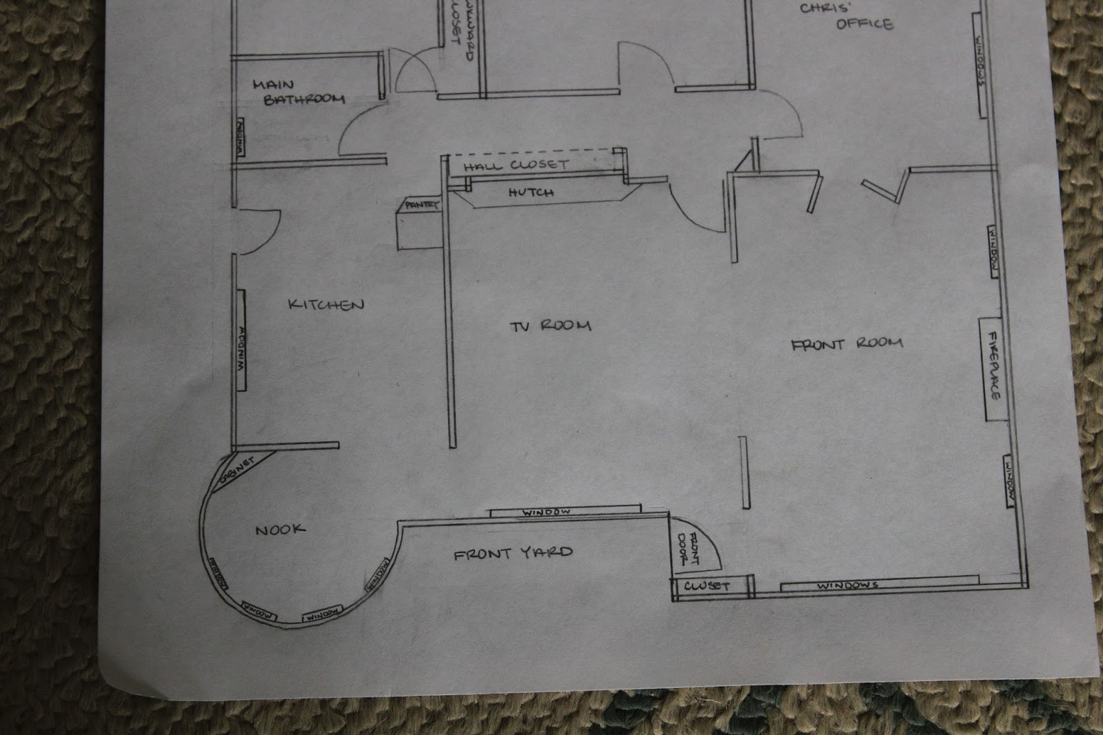Picardy Project: Long Time Coming: Our House - Kitchen At Front Of House Plans's Floor Plan