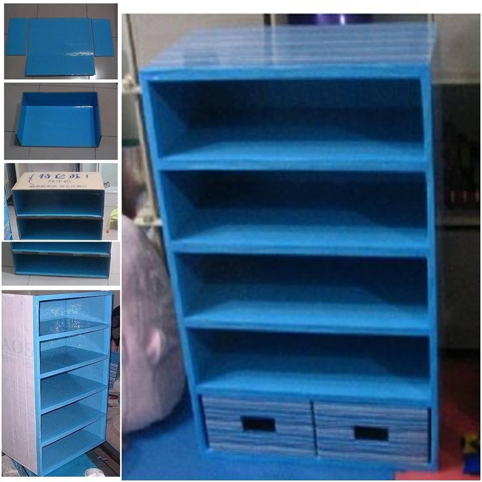 Muebles hechos con cart n construccion y manualidades - Manualidades con muebles ...