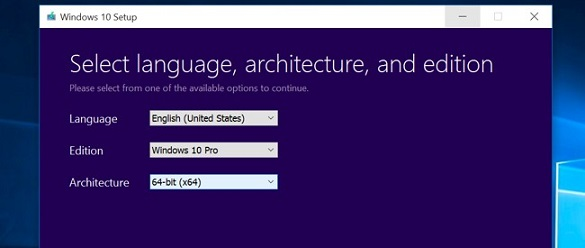 choose windows language