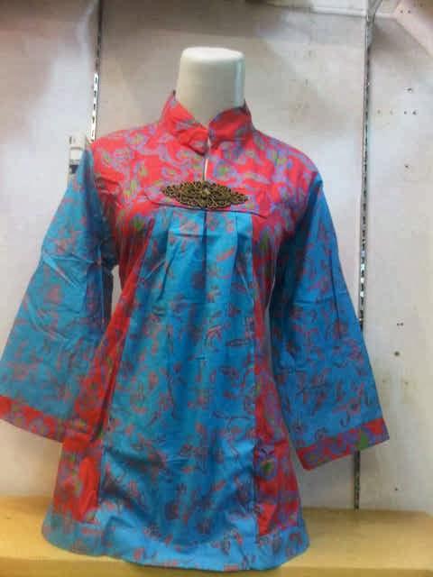 Desain Baju Batik Wanita Kerja Terbaru