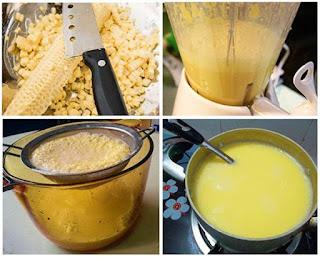 cách làm sữa ngô