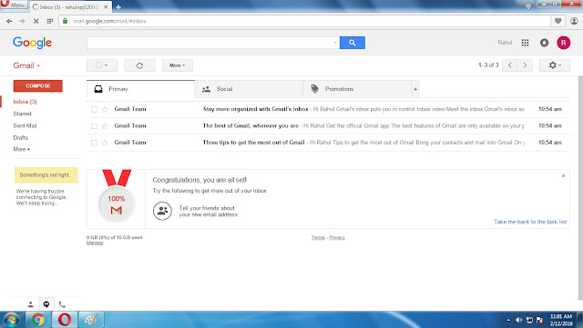 Created Account Gmail in Nepali