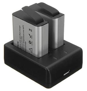 Carregador + duas baterias