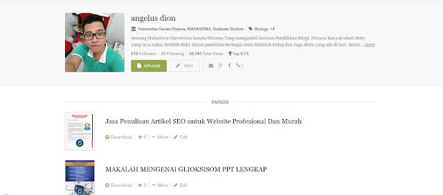 profil angelus dion di academia.edu