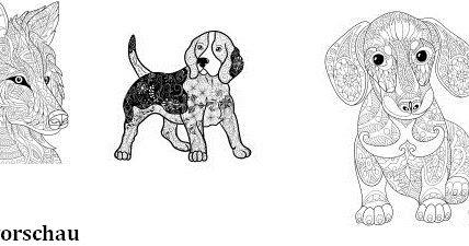 ausmalbücher für erwachsene: hunde - zum ausmalen und relaxen