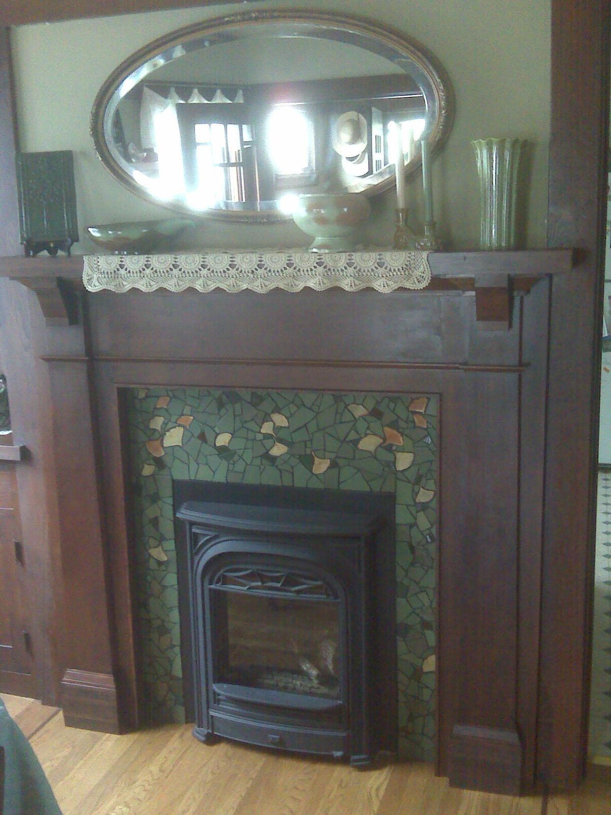 Kim Larson Art Mosaics More Fireplace Surround Mosaic