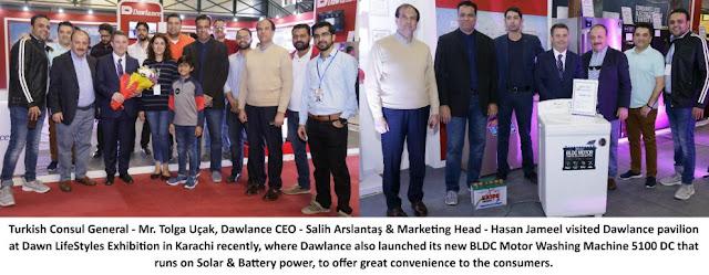 Dawlance launches Solar washing machines at Dawn Lifestyles Exhibition.