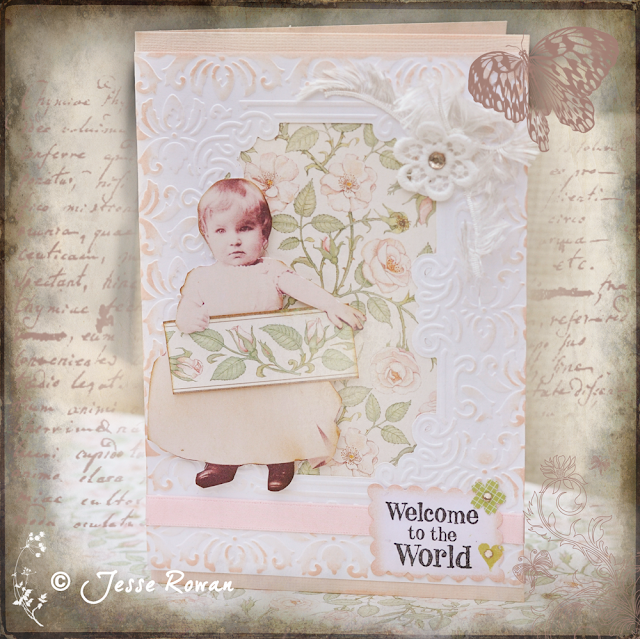 Vintage shabby chic style card by Jesse Rowan