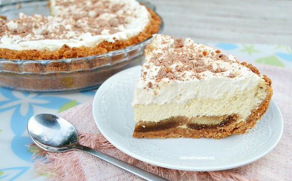 """This Tiramisu Pie is silky smooth and extra special with a moist """"extra"""" crust and makes the best dessert or tea-time treat ever !"""