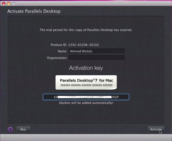 parallels serial key