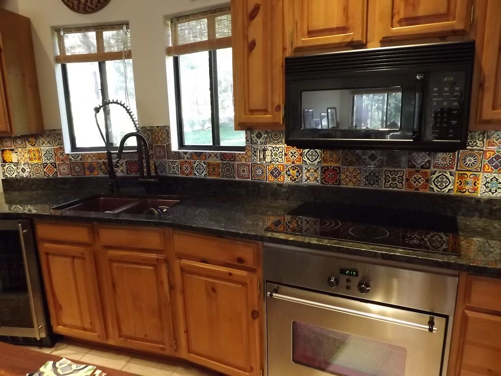 Spanish Tile Countertops Dusty Coyote Mexican Tile Kitchen Backsplash Diy