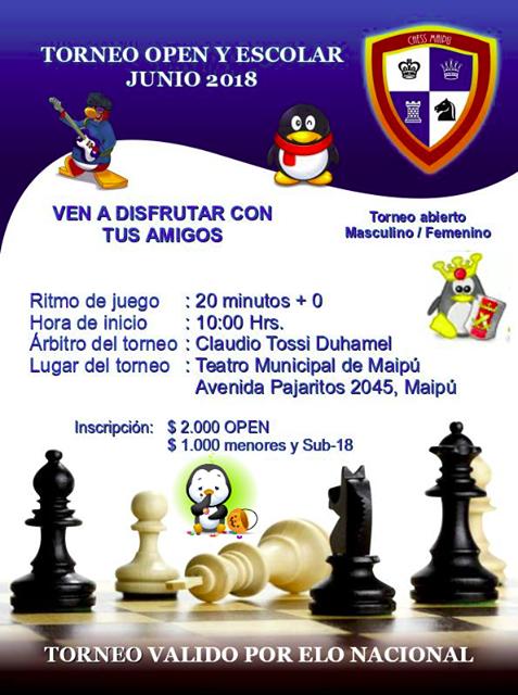 Torneo Abierto Escolar Chess Maipú junio 2018