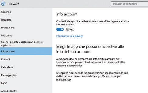 come consentire o vietare l'accesso alla fotocamera in Windows 10