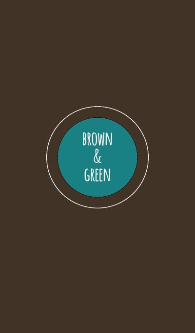 สีน้ำตาลและสีเขียว 2(Bicolor) /เส้นวงกลม