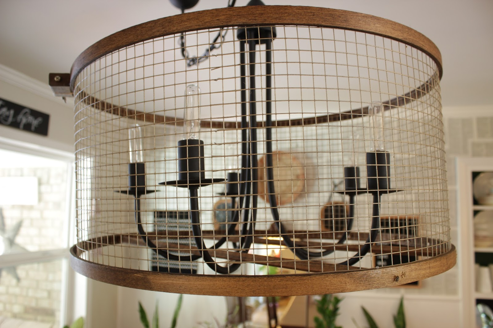 A quick tutorial for a modern chandelier update!