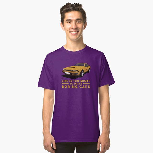 nissan silvia - life is too short to drive boring cars -  t-shirt