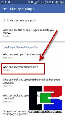 cara agar orang tidak bisa melihat siapa saja teman kita di FB android