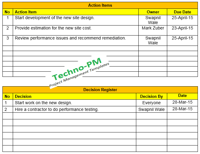 meeting notes template 1 pinteres