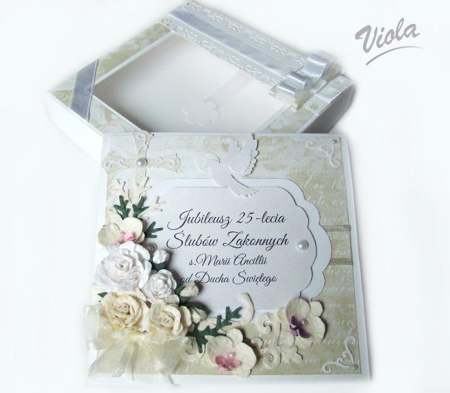 Kartka pamiątka ślubów zakonnnych