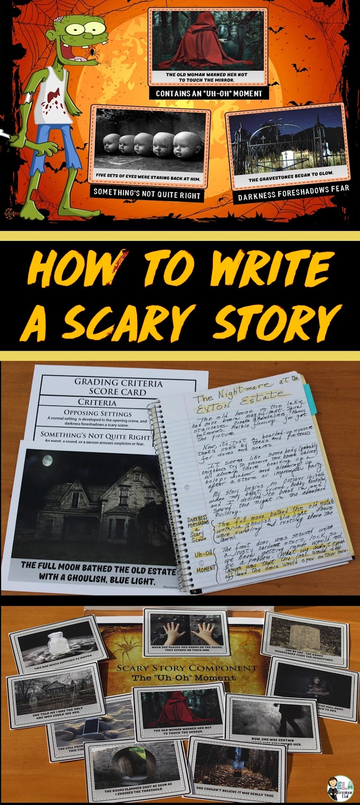 How to write a scary story setting