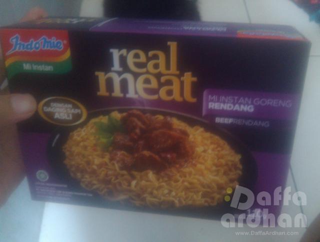 kemasan Indomie Real Meat Rendang