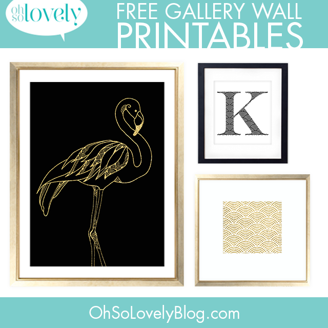 Click Here To Download The Free Flamingo And Scallop Printables