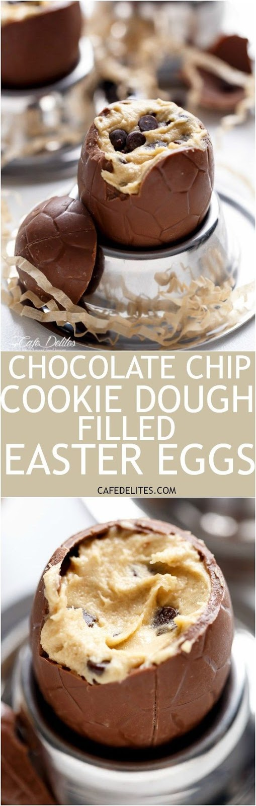 Cookie Dough Filled Easter Eggs