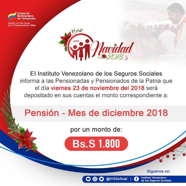 IVSS depositará este viernes monto de pensiones