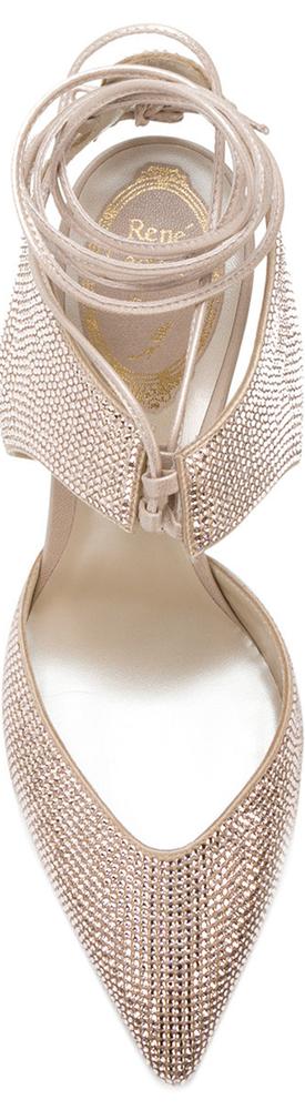 RENÉ CAOVILLA Pointed Embellished Sandals