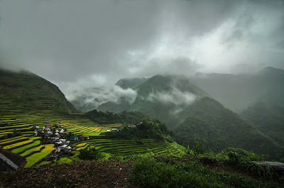 Batad Rice Terraces Fog Banks and Afternoon Rainy Mood
