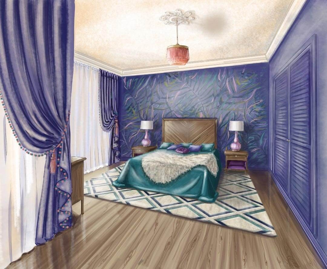 09-Lavender-Master-bedroom-Julia-Timireeva-Юлия-Тимиреева-Interior-Design-Drawings-that-Help-Visualise-www-designstack-co