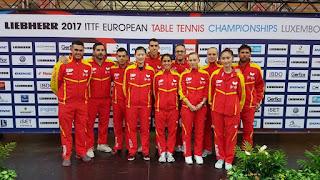 TENIS DE MESA - Campeonato de Europa 2017 (Luxemburgo): España mantiene la máxima categoría por equipos. Alemania y Rumanía se hicieron de oro
