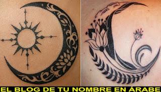 Tatuajes de simbolos: La luna