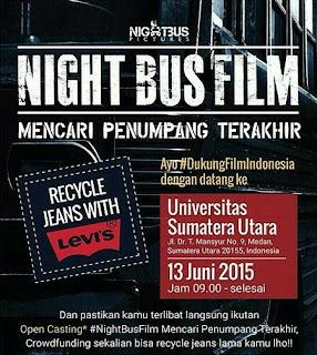 Audisi Pemain Film dari Night Bus Pictures