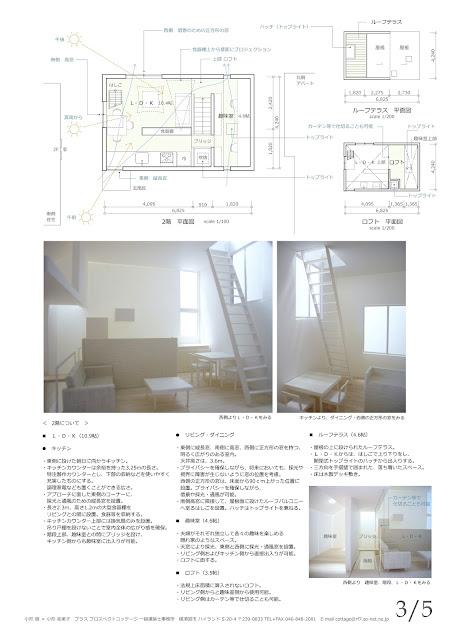 空へと続くはしごのある立体的な狭小都市型住宅 平面計画2階・内観イメージ